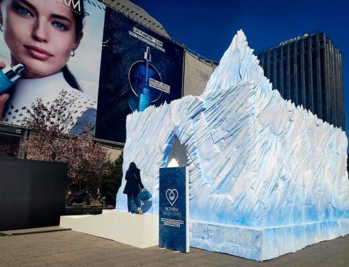BIOTHERM MATERIALIZES AN ICEBERG IN MADRID CITY CENTER