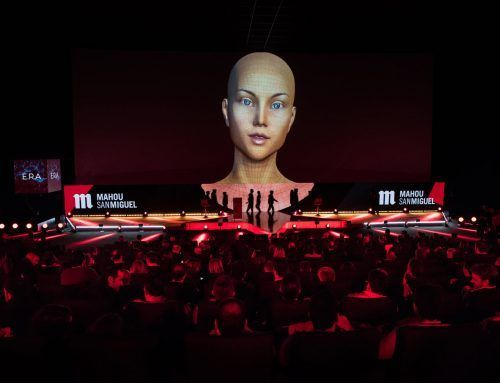VIDEO MAPPING AND ARTIFICIAL INTELLIGENCE AS THE PROTAGONISTS OF MAHOU-SAN MIGUEL'S ANNUAL CONVENTION